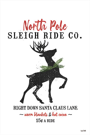 House Fenway FEN157 - FEN157 - Sleigh Rides - 12x18 Sleigh Rides, Reindeer, North Pole, Holidays, Signs from Penny Lane