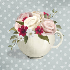 FEN166 - Polka Dot Coffee-Tea Rose   - 12x12