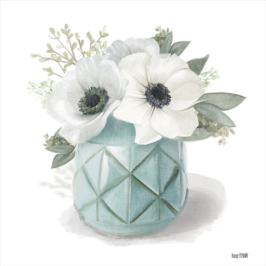 House Fenway FEN221 - FEN221 - Winter Anemones - Blue - 12x12 Still Life, Anemones, Blue Vase from Penny Lane