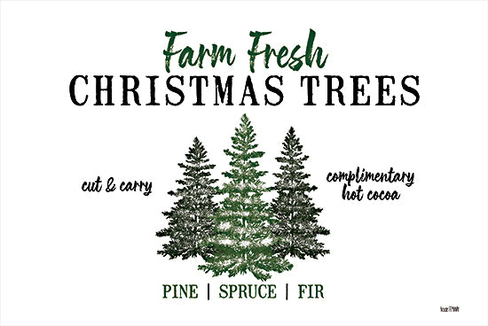 House Fenway FEN224 - FEN224 - Christmas Tree Farm   - 18x12 Holidays, Christmas Trees, Farm Fresh, Tree Farm, Green and White from Penny Lane