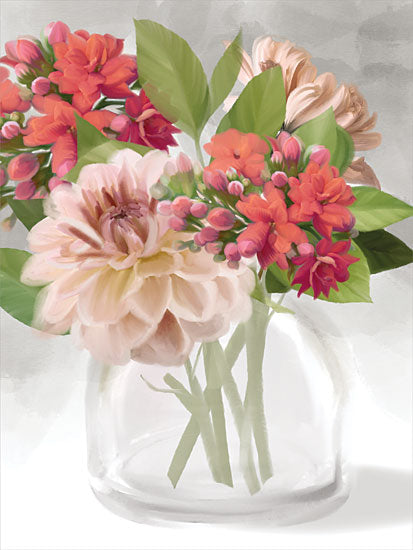 House Fenway FEN297 - FEN297 - Dahlia Bouquet - 12x16 Flowers, Dahlia, Bouquet, Glass Vase, Blooms from Penny Lane