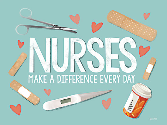 House Fenway FEN306 - FEN306 - Nurses Make A Difference     - 16x12 Nurses, Make a Difference, Healthcare, Band-Aids, Health from Penny Lane