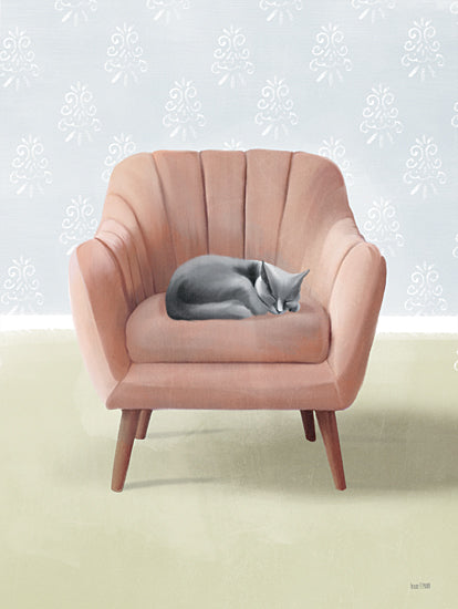 House Fenway FEN339 - FEN339 - Nap Time Gray Cat - 12x16 Cat, Chair, Napping, Nap Time from Penny Lane