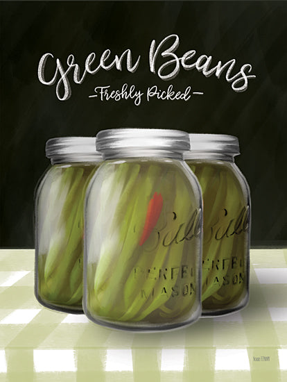 House Fenway FEN347 - FEN347 - Farm Fresh Green Beans - 12x16 Green Beans, Glass Jars, Canning, Kitchen from Penny Lane