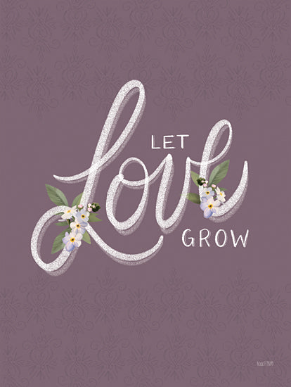 House Fenway FEN354 - FEN354 - Let Love Grow - 12x16 Let Love Grow, Flowers, Love, Signs from Penny Lane