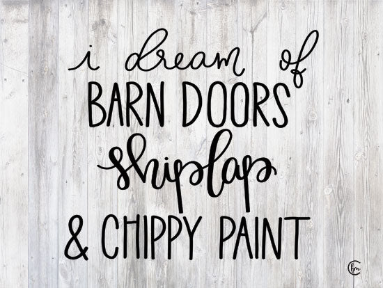 Fearfully Made Creations FMC114 - FMC114 - Farmhouse Dreams - 16x12 Signs, Typography, Chippy Paint, Farmhouse, Shiplap, Barn Doors, Wood Planks from Penny Lane