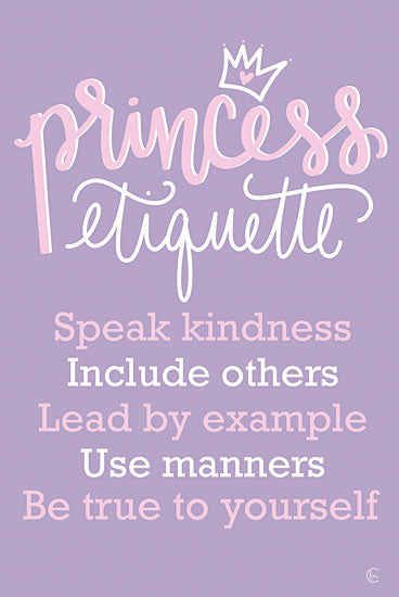 Fearfully Made Creations FMC197 - FMC197 - Princess Etiquette - 12x18 Signs, Typography, Princess Etiquette, Children from Penny Lane