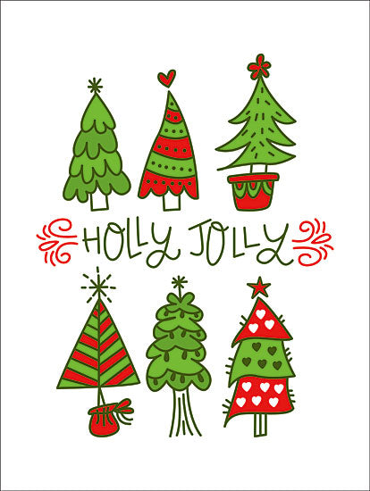 Erin Barrett FTL149 - FTL149 - Holly Jolly  - 12x12 Signs, Typography, Christmas Trees, Holly Jolly, Lyrics from Penny Lane