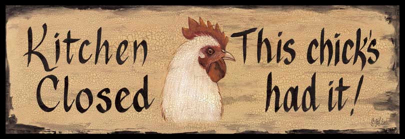 Gail Eads GE196F - GE196F - Kitchen Closed - 36x12 Kitchen Closed, Rooster, Humorous, Rustic from Penny Lane