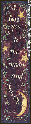 Gail Eads GE29A - To the Moon and Back - Moon, Love, Stars, Inspiring from Penny Lane Publishing