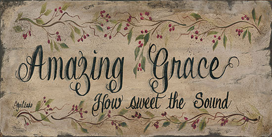 Gail Eads GE307 - Amazing Grace - Grace, Religious, Berries, Sign from Penny Lane Publishing