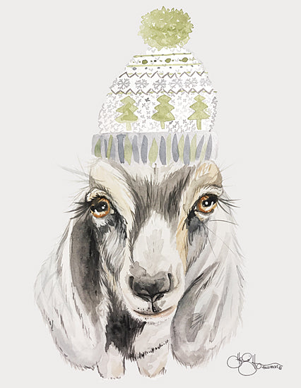 Hollihocks Art HH161 - HH161 - Cozy Goat   - 12x16 Goat, Beanie, Portrait from Penny Lane