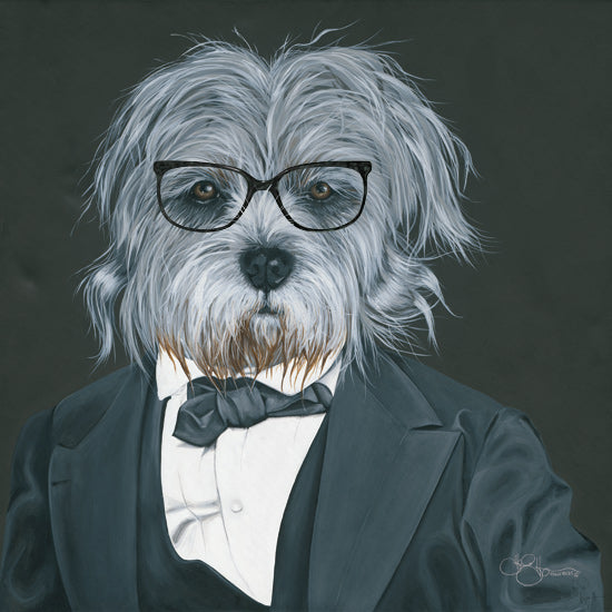 Hollihocks Art HH173 - HH173 - Dog in Suit     - 12x12 Dog, Suit, Glasses, Portrait from Penny Lane