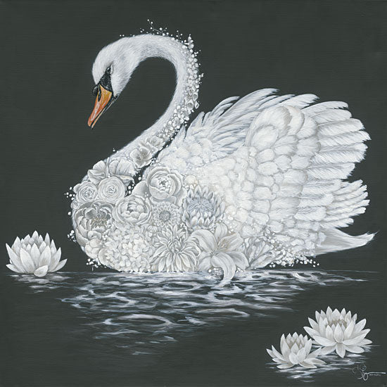 Hollihocks Art HH192 - HH192 - Leni the Swan - 12x12 Swan, Flowers, Succulents, Abstract, Floral Swan from Penny Lane