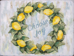 HOLD116 - Choose Joy Lemon Wreath - 12x16