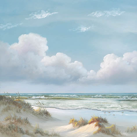Georgia Janisse JAN170 - Beautiful Day I - Triptych  - Ocean, Tide, Waves, Sand, Triptych from Penny Lane Publishing