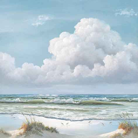 Georgia Janisse JAN171 - Beautiful Day II - Triptych  - Ocean, Tide, Waves, Sand, Triptych from Penny Lane Publishing