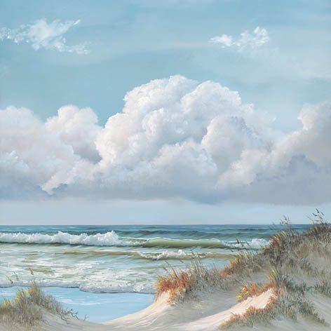 Georgia Janisse JAN172 - Beautiful Day III - Triptych  - Ocean, Tide, Waves, Sand, Triptych from Penny Lane Publishing