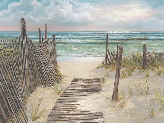 Georgia Janisse JAN197 - Path to Ocean  - Path, Ocean, Sand, Fence Coast from Penny Lane Publishing