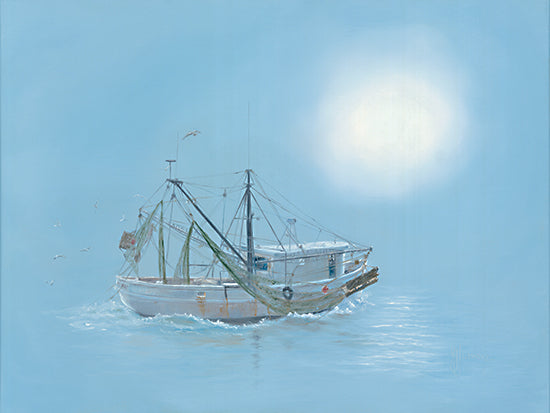 Georgia Janisse JAN257 - JAN257 - Misty Morning - 16x12 Boat, Ship, Misty, Morning, Coastal from Penny Lane