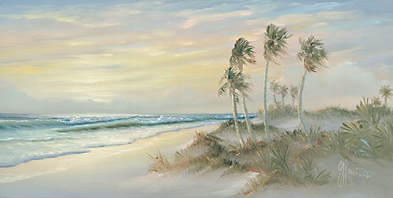 Georgia Janisse JAN260 - JAN260 - Palm Trees on Coast I - 18x9 Palm Trees, Coastal, Beach, Ocean, Sand, Wave, Landscape from Penny Lane