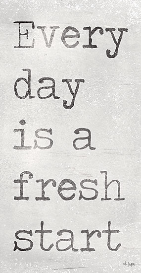 Jaxn Blvd. JAXN356 - JAXN356 - Every Day is a Fresh Start - 12x18 Every Day is a Fresh Start, Motivational, Black & White, Signs from Penny Lane