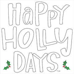 JAXN463 - Happy Holly Days    - 12x12
