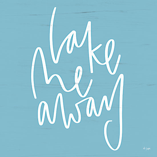 Jaxn Blvd. JAXN577 - JAXN577 - Lake Me Away - 12x12 Lake, Blue & White, Signs from Penny Lane