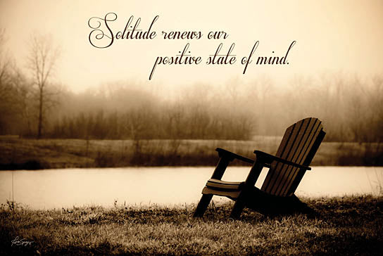 Justin Spivey JDS131 - Solitude - Adirondack Chair, Inspiring, Lake, Sepia from Penny Lane Publishing