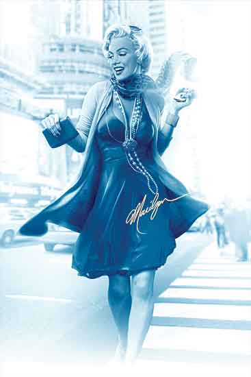 JG Studios JGS316 - JGS316 - Marilyn in the City II - 12x18 Illustrative, Marilyn Monroe, Style, Downtown from Penny Lane