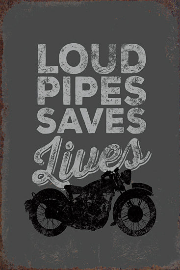 JG Studios JGS334 - JGS334 - Loud Pipes Saves Lives - 12x18 Signs, Typography, Motorcycle, Humor from Penny Lane