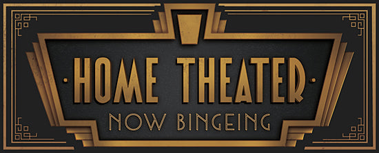 JG Studios JGS352 - JGS352 - Home Theater - 20x8 Home Theater, Binge Watch, Movies, Modern, Signs, Typography from Penny Lane