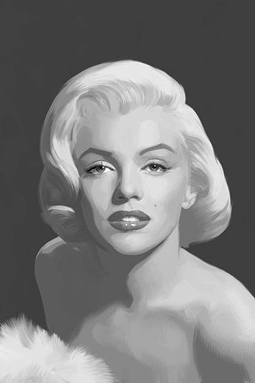 JG Studios JGS371 - JGS371 - Classis Beauty I - 12x18 Illustrative, Marilyn Monroe, Black & White, Portrait from Penny Lane