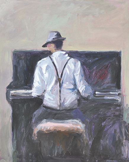 JG Studios JGS427 - JGS427 - Play Me a Tune - 12x16 Man, Piano, Music, Figurative, Abstract from Penny Lane