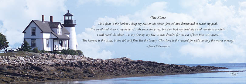 John Jones JJ523A - The Shore - Lighthouse, Shore, Coastal, Inspiring from Penny Lane Publishing