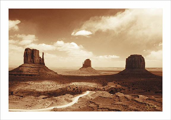 John Jones JJAR82 - Monument Valley - Sand, Monument, Landscape, Sepia from Penny Lane Publishing