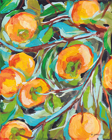 Jessica Mingo JM199 - JM199 - Persimmon   - 12x16 Persimmon, Tree, Abstract, Modern from Penny Lane