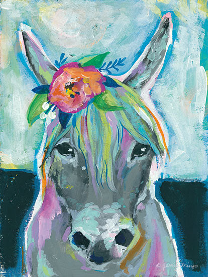 Jessica Mingo JM203 - JM203 - Sweet Cow      - 12x16 Cow, Flowers, Portrait from Penny Lane