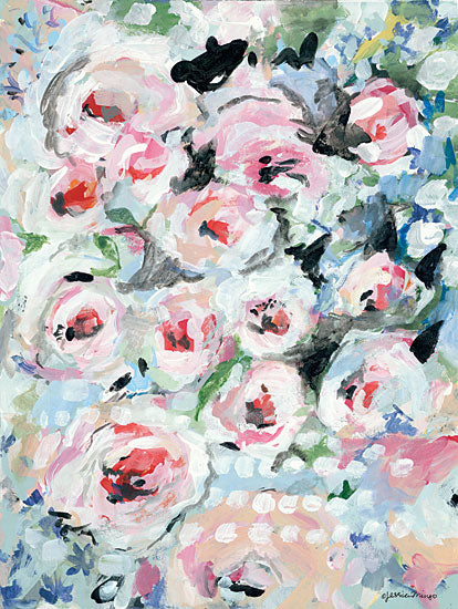 Jessica Mingo JM307 - JM307 - English Rose Garden - 12x16 Roses, Flowers, English Garden, Abstract, Botanical, Blooms from Penny Lane