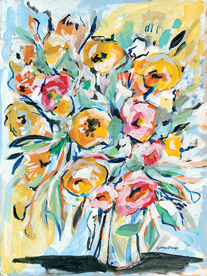 Jessica Mingo JM308 - JM308 - Abstract Florals - 12x16 Flowers, Bouquet, Abstract from Penny Lane