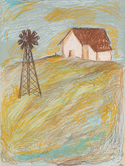 Jessica Mingo JM312 - JM312 - Ozarks - 12x16 Windmill, Ozarks, Barn, Primitive, Country from Penny Lane