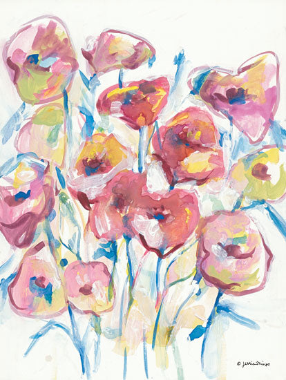 Jessica Mingo JM366 - JM366 - Colorful Floral II - 12x16 Flowers, Abstract from Penny Lane