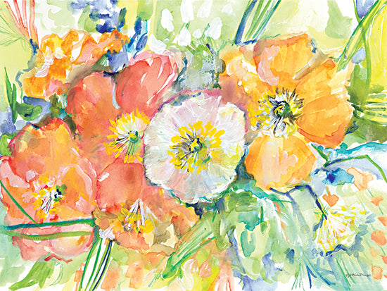 Jessica Mingo JM417 - JM417 - Poppies for Karen    - 16x12 Flowers, Abstract, Poppies from Penny Lane