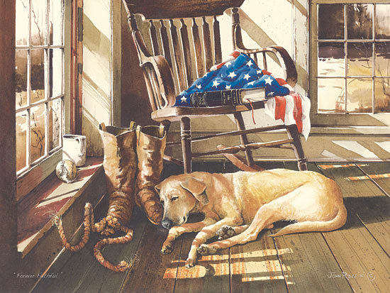 John Rossini JR270 - Forever Faithful - American Flag, Dog, Rocker, Boots from Penny Lane Publishing