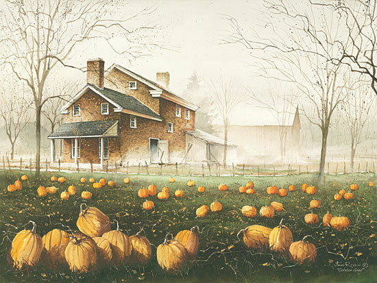 John Rossini JR281 - October Gray - Pumpkins, Field, Autumn, Harvest, Landscape from Penny Lane Publishing