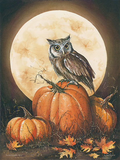 John Rossini JR322 - In the Pumpkin Patch - Owl, Moon, Pumpkin, Patch, Leaves from Penny Lane Publishing