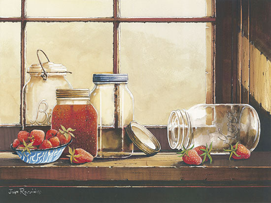 John Rossini JR335 - Waiting to be Filled - Kitchen, Jars, Strawberries, Still Life from Penny Lane Publishing