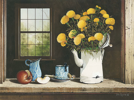John Rossini JR336 - Not Just for Tea - Yellow Flowers, Apple, Pitcher, Window from Penny Lane Publishing