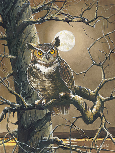 John Rossini JR339 - The Sentinel - Owl, Tree from Penny Lane Publishing