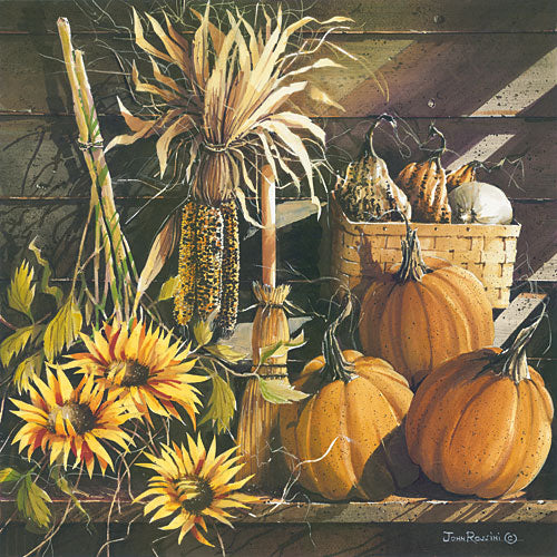 John Rossini JR343 - Fall Ensemble - Sunflowers, Pumpkins, Still Life, Autumn, Country from Penny Lane Publishing